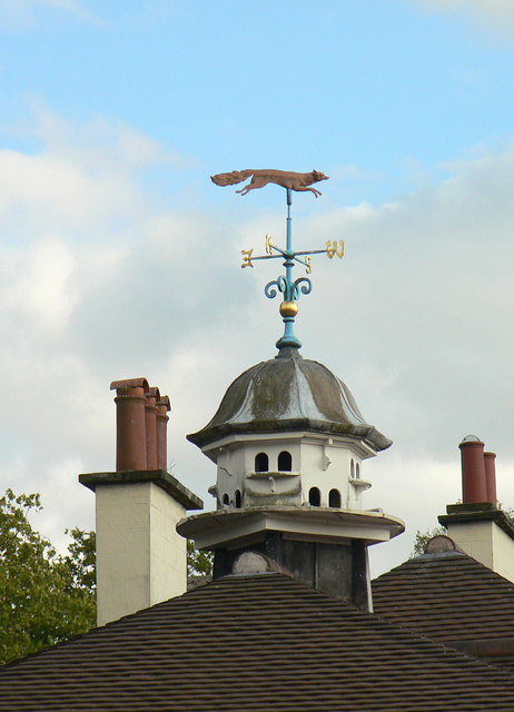 Dovecote and weather vane at The Court, Cropwell Butler