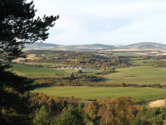 The village of Oyne from the slopes of Bennachie