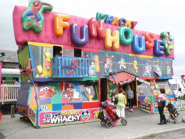Whacky Funhouse, at Barry Docks