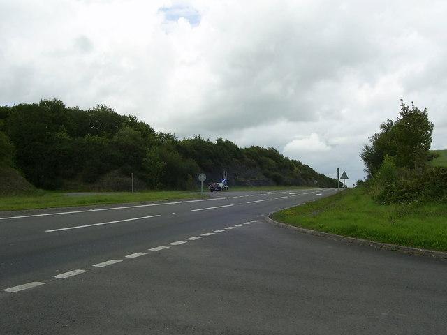 Road Junction near Llanddewi Velfrey