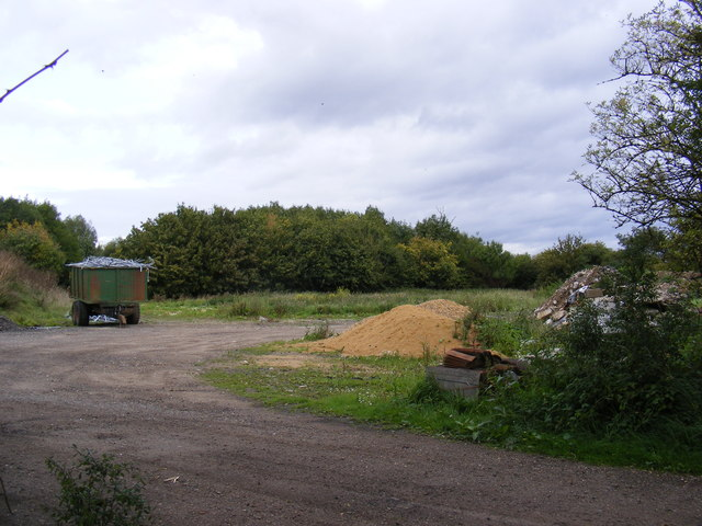 Undeveloped part of Earl Soham Business Park