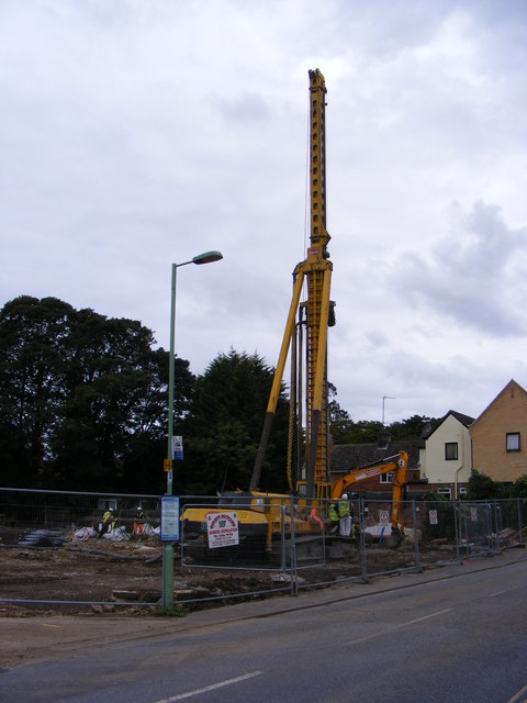Pile Driving in Church Street Saxmundham