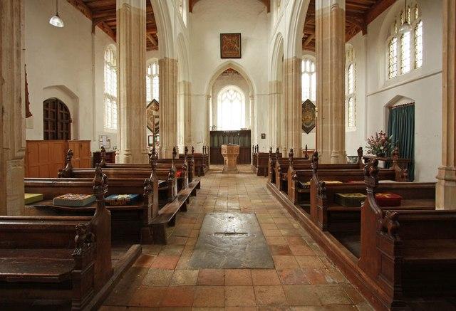 St Nicholas, Denston - West end