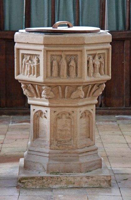 St Nicholas, Denston - Font