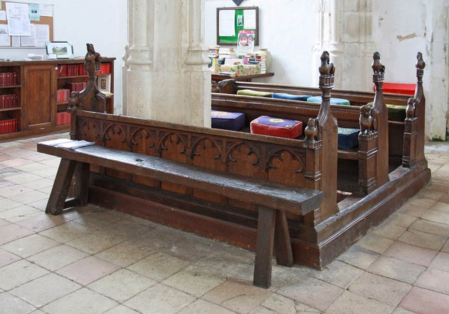St Nicholas, Denston - Pews and bench