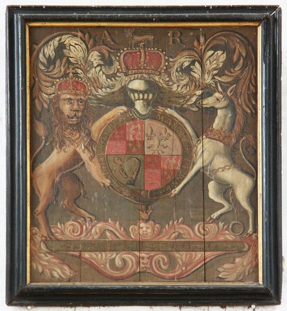 St Nicholas, Denston - Royal Arms