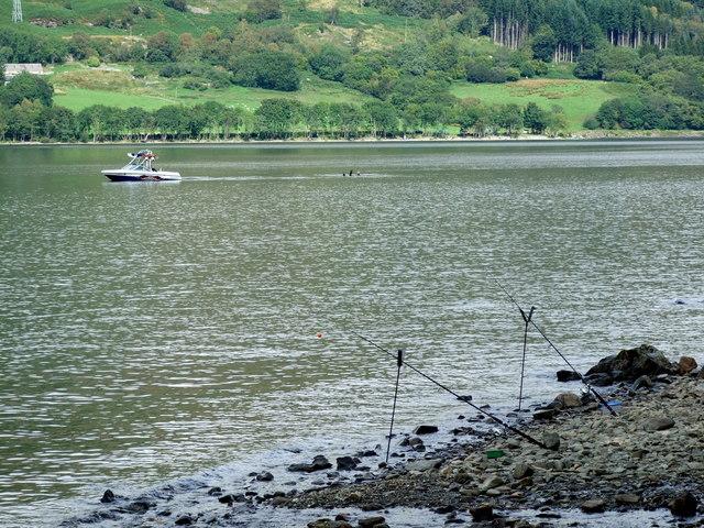 Fishing rods on south Loch Earn