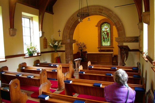 Interior of Courthill Chapel