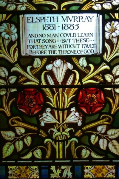 Memorial window to Elspeth Murray