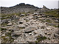 NY2406 : Final stretch of path leading to Bowfell summit by Peter S