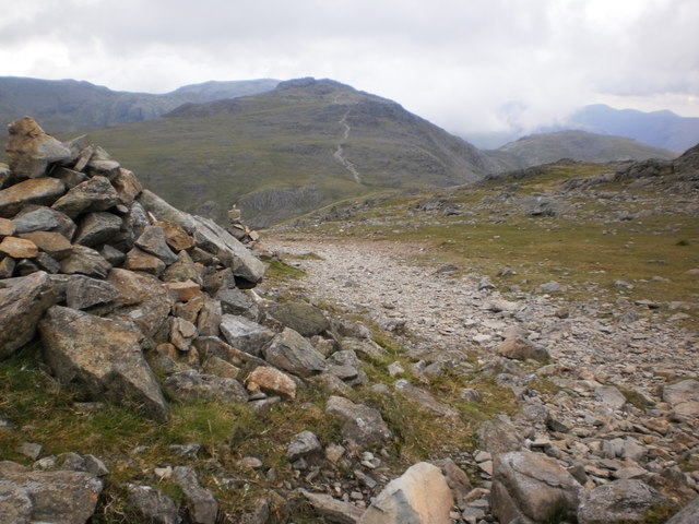 On a descent from Bowfell, looking towards Esk Pike