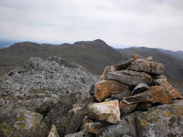 Small cairn on Esk Pike summit