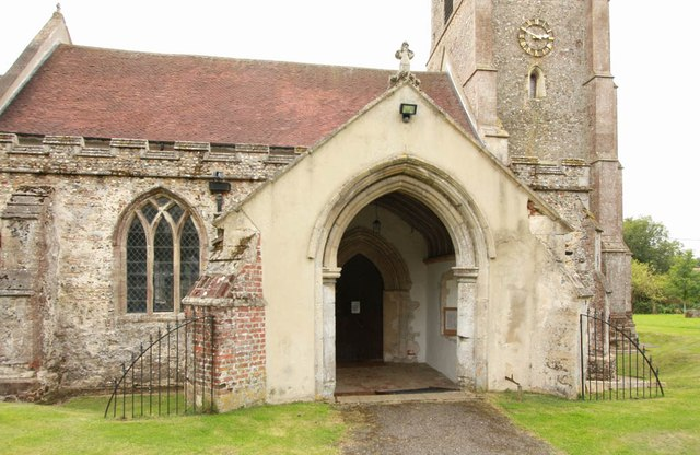 All Saints, Wickhambrook - Porch