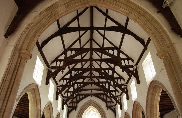All Saints, Wickhambrook - Roof