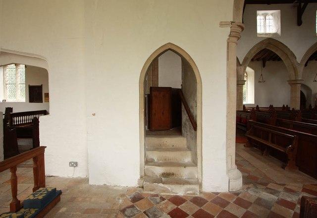 All Saints, Wickhambrook - Entrance to pulpit