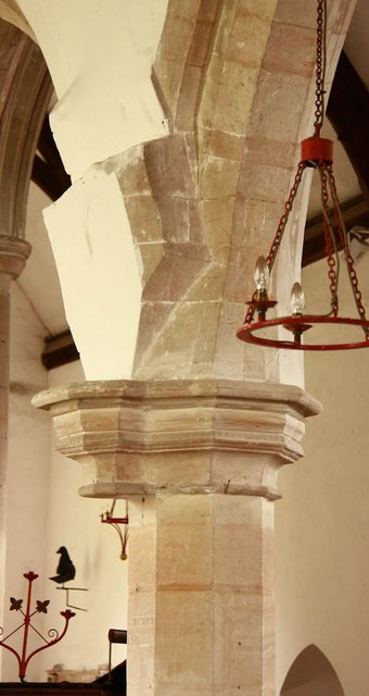 All Saints, Wickhambrook - Column