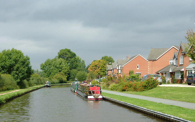 Canalside housing at Stone, Staffordshire
