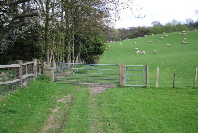 Gate across the 1066 Country Walk