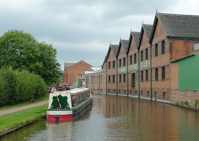 Trent and Mersey Canal in Stone, Staffordshire