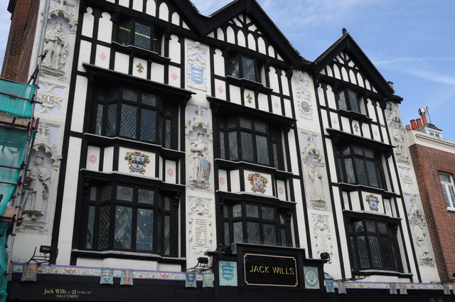 Ornate front of Jack Wills building