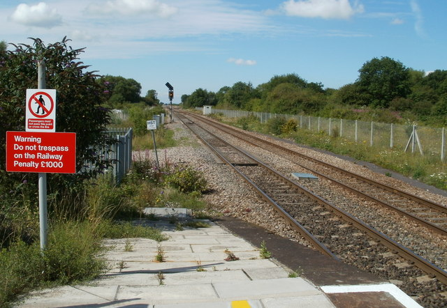 The view SW from Yatton railway station