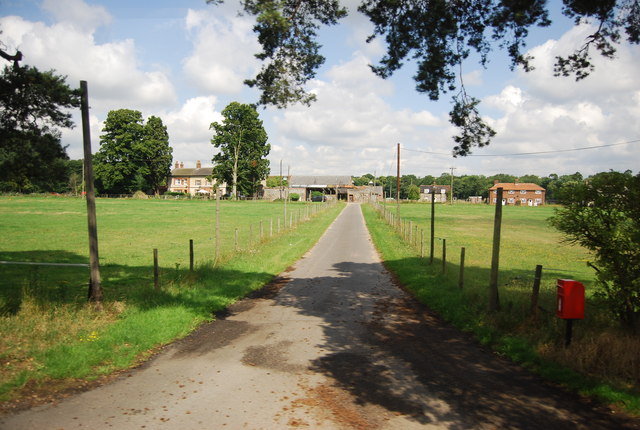 The entrance to Chalk Hall Farm