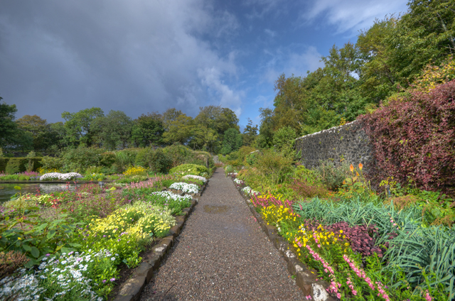 Pathway in the walled garden