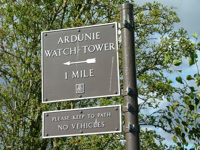 Sign for Ardunie Watch-Tower