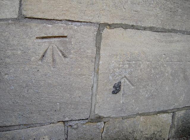 Benchmark and a mason's mark