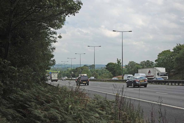 M6 near Springpool Wood