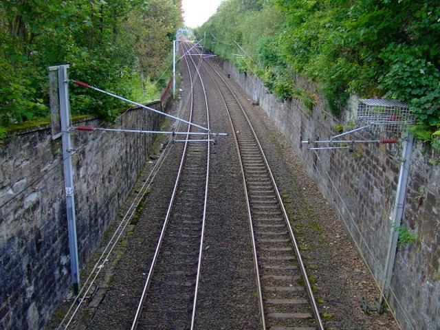Railway line at Port Glasgow