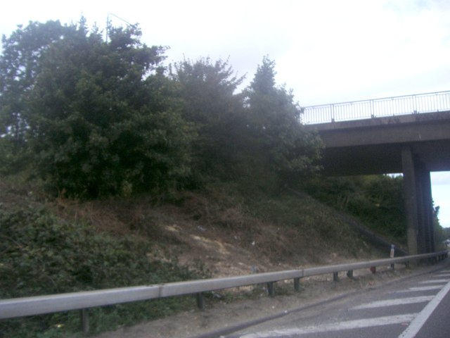 Morants Court Road flyover on the M25
