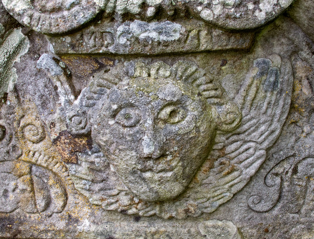 Detail of Gravestone at Path of Condie