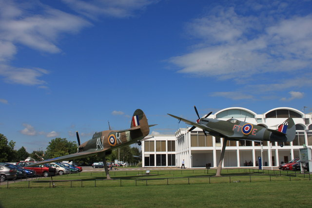 Replica Hurricane and Spitfire at the RAF Museum, Hendon