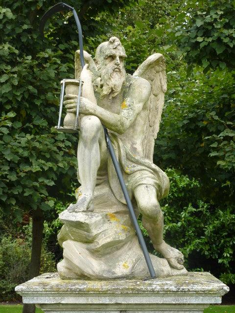 Old Father Time statue, Sandringham, Norfolk