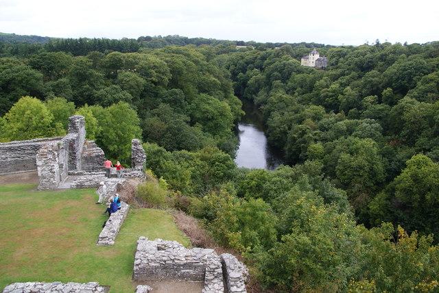 Afon Teifi from Cilgerran castle