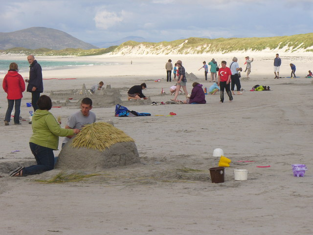 Sandcastle Competition on West Beach