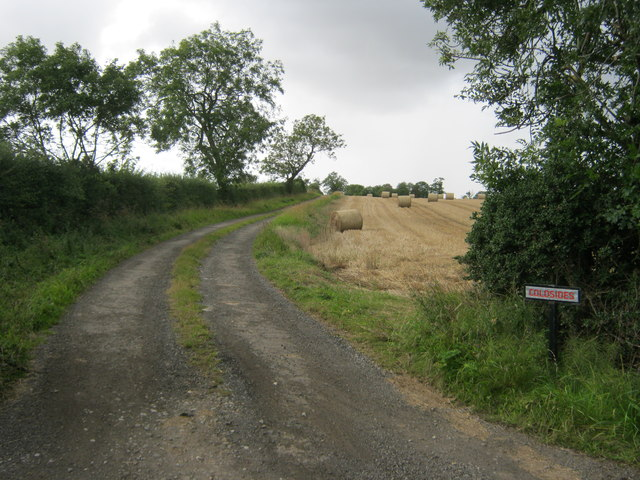 Road from the A68 to Coldsides Farm Darlington