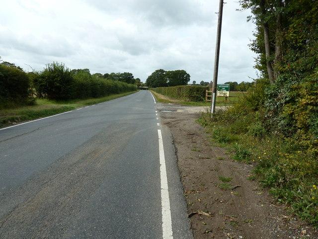 West along Honeypot Lane