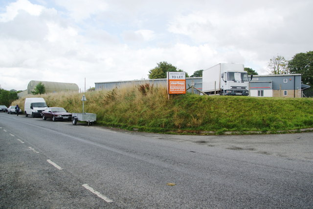 Industrial units on the edge of Cilgerran