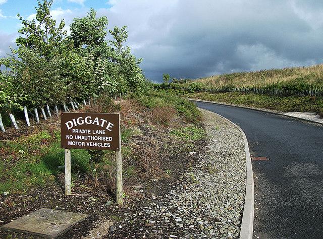 Entrance to Diggate Farm