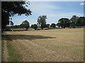 SP2480 : Harvested fields southwest of Four Oaks  by Robin Stott