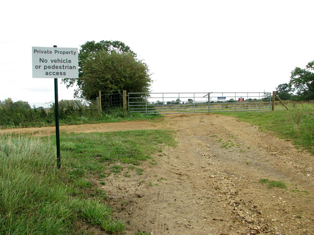Entrance into a sand extraction quarry, Middleton