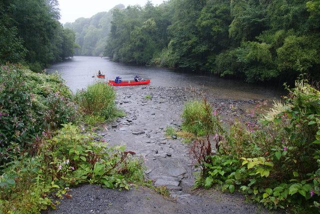 Run aground in the rain on Afon Teifi