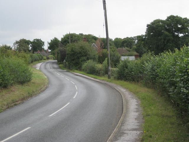 Meriden Road south of Four Oaks