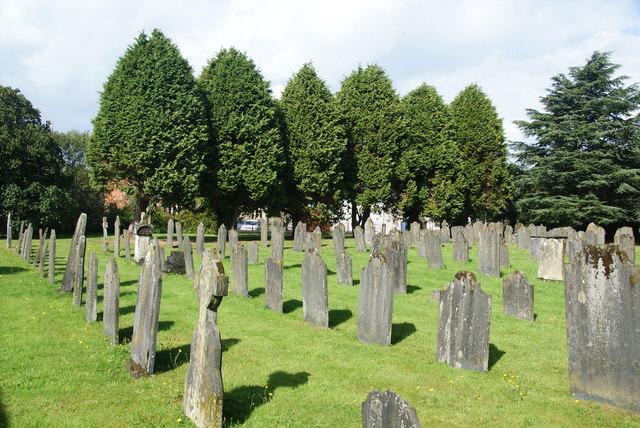 The churchyard of St Mary's, Cardigan