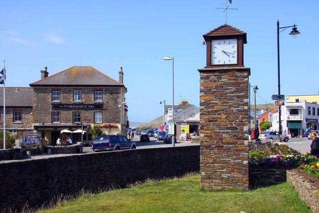 Clock tower in Perranporth