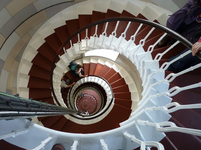 Can you describe a spiral stairway ...