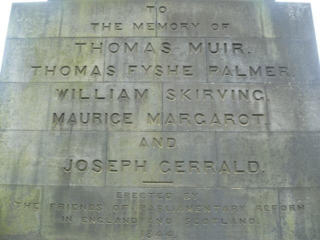 Political Martyrs Monument inscription