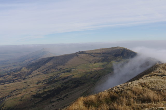 Mam Tor from Rushup with Cloud